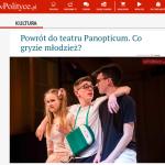 Recenzja spektaklu Buziaki na portalu wPolityce.pl